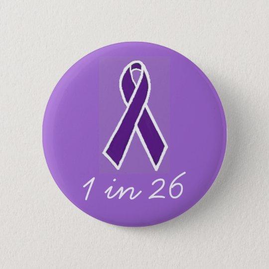 """Epilepsie """"1 in 26"""" Knopf Runder Button 5,7 Cm"""