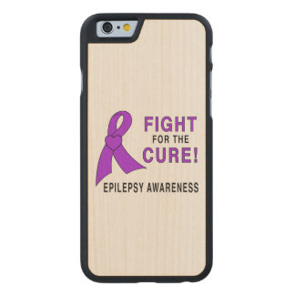 Epilepsie: Kampf für die Heilung! Carved® iPhone 6 Hülle Ahorn