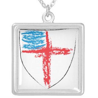 Episkopales Schild Versilberte Kette