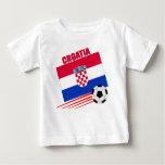Équipe de football de la Croatie T-shirt Pour Bébé