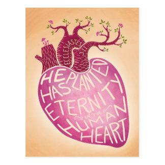 Er hat Ewigkeit im menschlichen Herzen gepflanzt Postkarte