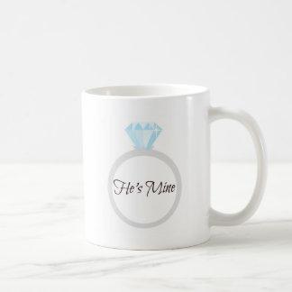 Er ist Bergwerk-Verlobungs-Ring Kaffeetasse