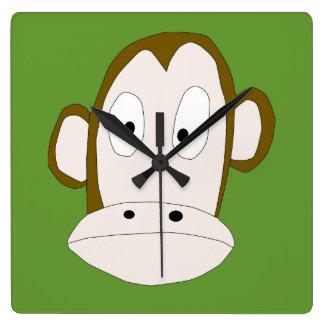 Er Monkey quadratische Uhr