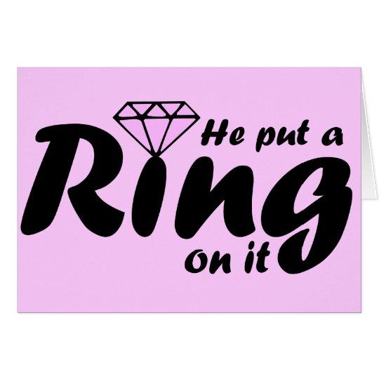 Er setzte einen Ring auf ihn - damit die Braut ist Grußkarte