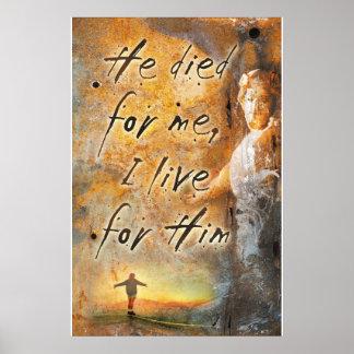 ER STARB FÜR MICH - Jesus Christus-religiöses Poster