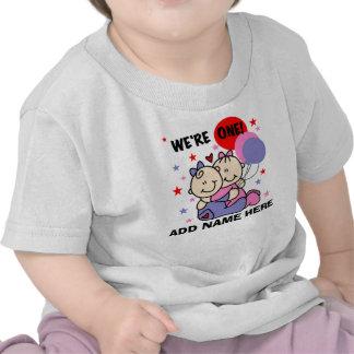 Ęr T-shirt personnalisé d'anniversaire de filles j
