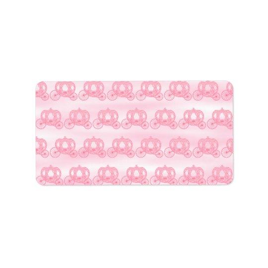 Erblassen Sie - rosa Muster von Prinzessin Carriag Adressaufkleber