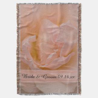 Erblassen Sie - rosa Rosen-Blumenhochzeit Decke