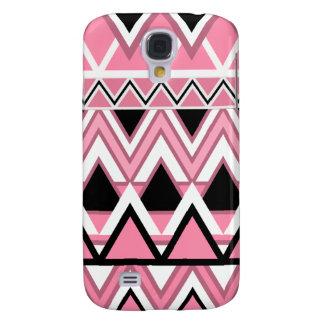 Erblassen Sie - rosa Stammes- Muster Galaxy S4 Hülle