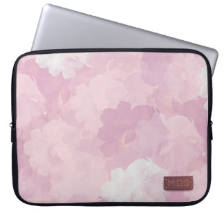 Erblassen Sie - rosa Watercolor-Rosen-Laptop-Hülse