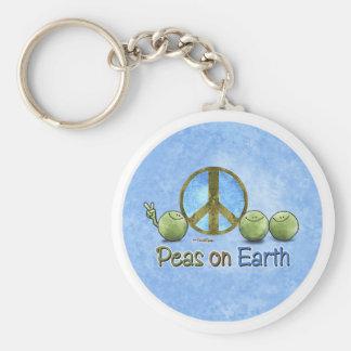 Erbsen auf Erde - gehen keychain grünes Schlüsselanhänger