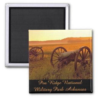 Erbsen-Ridgenationaler Militärpark Arkansas Quadratischer Magnet