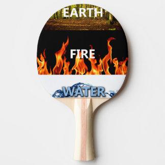 Erd-, Feuer-und Wasser-Klingeln Pong Paddel Tischtennis Schläger