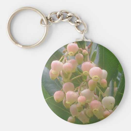 Erdbeerbaum-Blüte Keychain Schlüsselanhänger