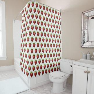 Erdbeere Duschvorhang