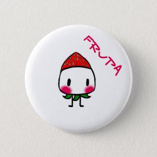 Erdbeere Frupa Runder Button 5,1 Cm