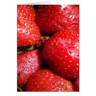 Erdbeere Grußkarte