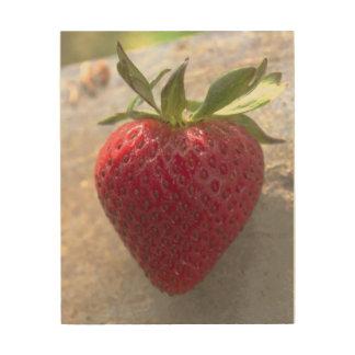 Erdbeere Holzleinwände