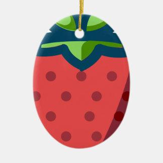 Erdbeere Keramik Ornament