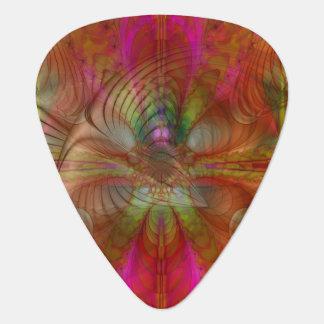 Erdbeere stellt psychedelisches abstraktes auf Gitarren-Pick
