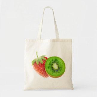Erdbeere und Kiwi Tragetasche