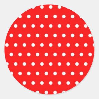erdbeeren punkte rot (mehrere Produkte ausgewählt) Runder Aufkleber