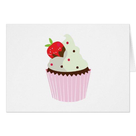 Erdbeerkleiner kuchen grußkarte