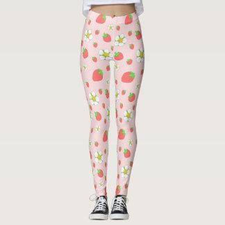 Erdbeerpunkte im Rosa Leggings