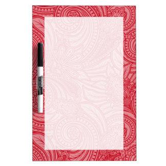 Erdbeerrosa kundenspezifische Initiale Memoboard