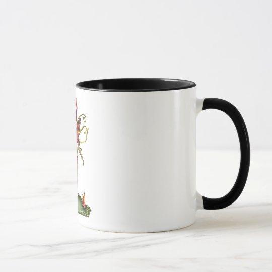 Erdbeerschmetterlings-Fee-Tasse Tasse