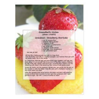 Erdbeershortcake-Postkarte Postkarte