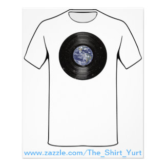 Erde in Raum-Vinyl-LP-Aufzeichnung