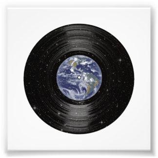 Erde in Raum-Vinyl-LP-Aufzeichnung Photographie