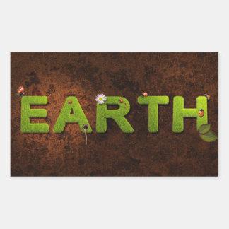 Erde, Klimaaufkleber Rechteckiger Aufkleber