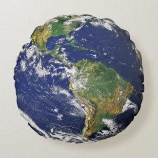 Erde Rundes Kissen