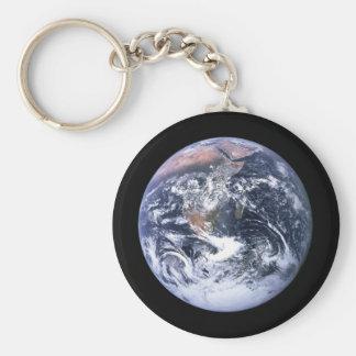 Erde Standard Runder Schlüsselanhänger