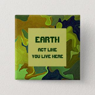 ERDE, Tat wie Sie lebt hier. Grünes Button