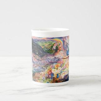 Erdengels-China-Tasse Porzellantasse