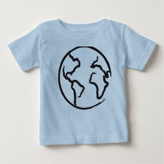 Erdillustration scherzt Shirt