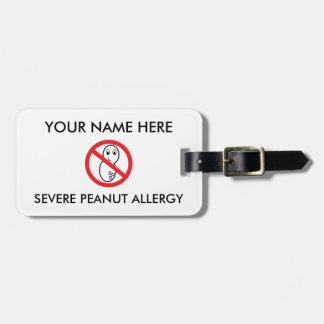 Erdnuss-Allergie ID/ICE Kofferanhänger