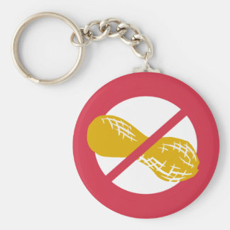 Erdnuss-freies Symbol-Rot keine Schlüsselanhänger