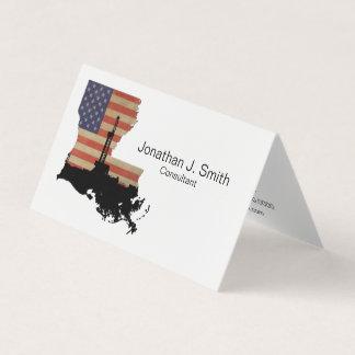 Erdölbohrungs-Anlage, Louisiana, Sterne, Streifen Visitenkarten