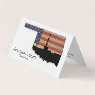 Erdölbohrungs-Anlage, Oklahoma, Sterne, Streifen Visitenkarten