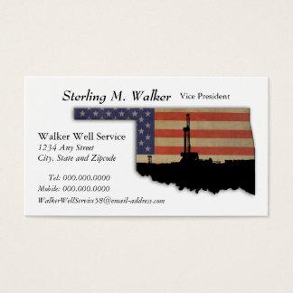 Erdölbohrungs-Anlage Oklahomas patriotische Visitenkarte