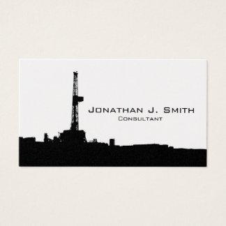 Erdölbohrungs-Anlage-Standort-Schwarz-Silhouette Visitenkarte