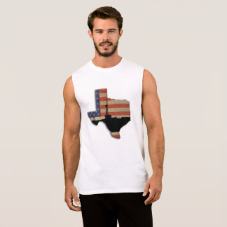 Erdölbohrungs-Anlage Texas patriotische Ärmelloses Shirt