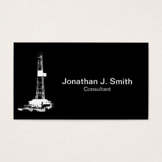 Erdölbohrungs-Anlage-Weiß-Silhouette Visitenkarte