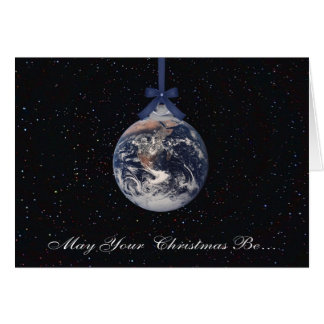 Erdplaneten-Weihnachtsgruß-Karte Karte