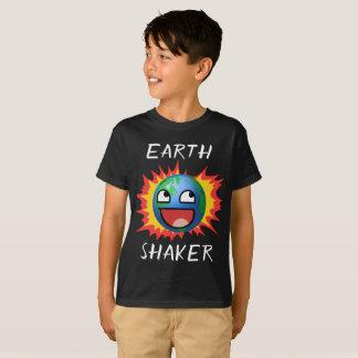 Erdschüttel-apparatpositives motivierend T-Stück T-Shirt