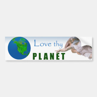Erdtag - Liebe Thy Planet Autoaufkleber